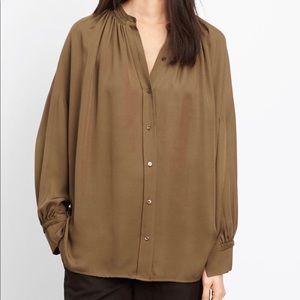 Silk Pleated Blouse - VINCE